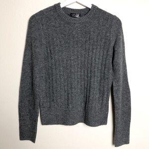 Topshop Grey Knit Crewneck Sweater